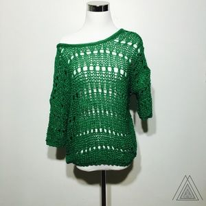 Sweaters - NWOT Green Knit Sweater w/Strappy Back